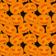 Halloween pumpkins - seamless pattern — Stock Vector