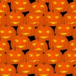 Royalty-Free Stock Vectorielle: Halloween pumpkins - seamless pattern