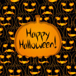 Royalty-Free Stock : Halloween vector card or background, vector