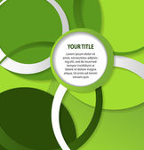 Astratto sfondo verde con cerchi e anelli — Vettoriale Stock