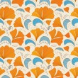 Orange and blue seamless floral pattern — Stock Vector