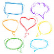 Colorful speech bubbles — Stok Vektör