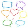 Colorful speech bubbles — Stock vektor