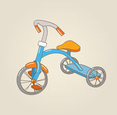 Kid's tricycle, vector illustration — Wektor stockowy