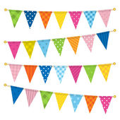 Vector triangle bunting flags — Vettoriale Stock