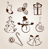 Collection of Christmas icons/objects — Vecteur