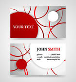 Modern red and gray modern business card template. — Stockvector