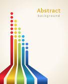 Gekleurde strepen met cirkels, vector. ontwerpsjabloon. — Stockvector
