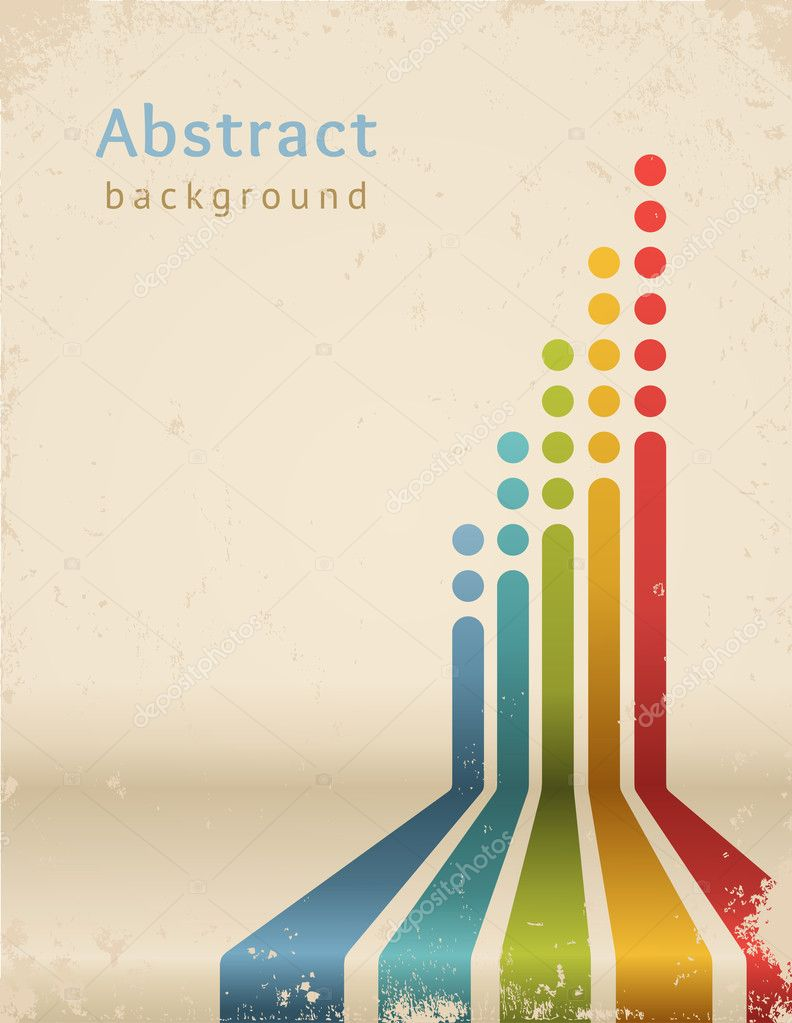 Colored stripes with circles, vector. Grunge design template ...
