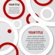 Red and white abstract banners on gray background, vector - Stock Vector