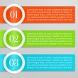 Vector One, Two, Three progress labels with white rings on gray background — 图库矢量图片 #17682067