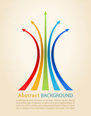 Colored arrows, vector. Design template. — Stock Vector