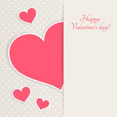 Greeting card for Valentine's day with place for your text — Stock Vector