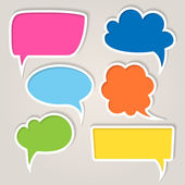 Set of colorful speech bubbles — Stok Vektör