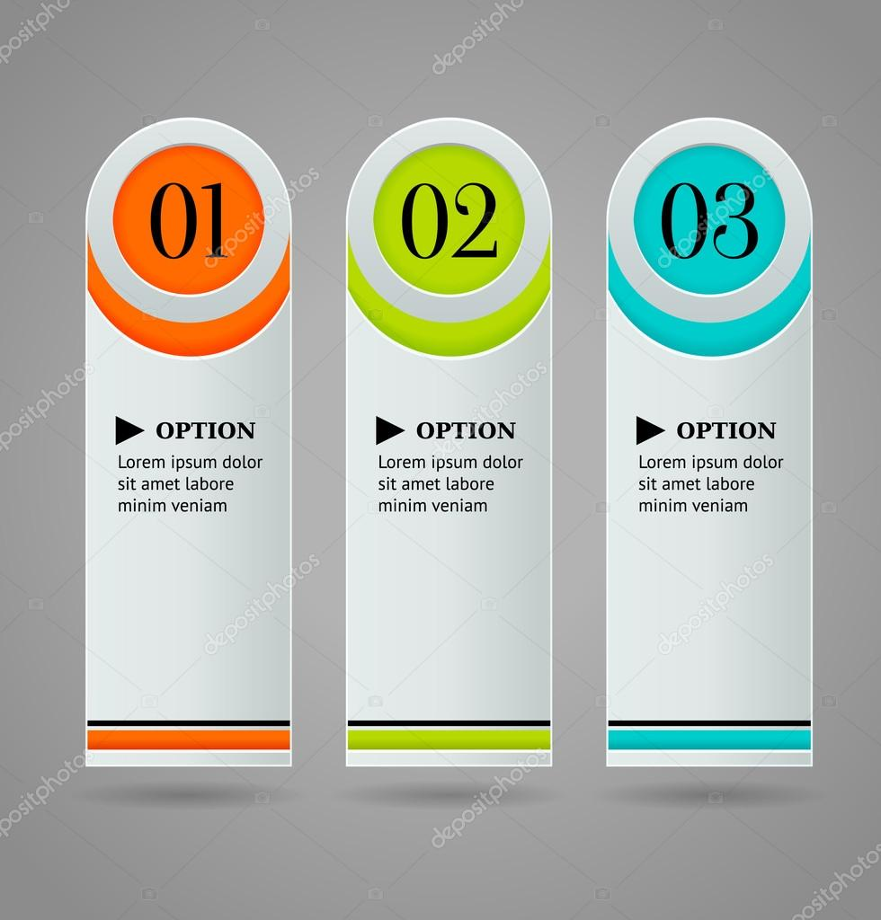 Vertical colorful options banner template. Vector illustration ...