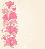 Hand-drawing floral background. Vector illustration — Stockvektor