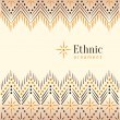 Beautiful vintage ethnic ornament background - Stock Vector