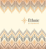 Beautiful vintage ethnic ornament background — Stock Vector