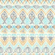 Stock Vector: Tribal seethnic seamless pattern