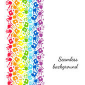Rainbow made from hands. Abstract vector background — Stockvektor