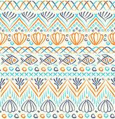 Tribal sea etniska seamless mönster — Stockvektor