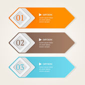 Modern option banners. Color stripes numbers on light background. Vector illustration. — Stock Vector