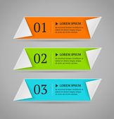 Modèle de bannière horizontale options colorées. illustration vectorielle. style origami — Vecteur