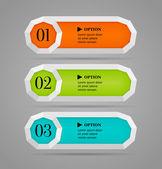 горизонтальные красочные параметры кнопки или баннера шаблон. векторные иллюстрации — Cтоковый вектор