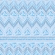 Blue tribal ethnic seamless pattern — Stock Vector