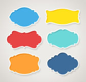 Set of colorful vintage labels, vector — Stock Vector