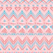 Pink tribal ethnic seamless pattern — Stock Vector