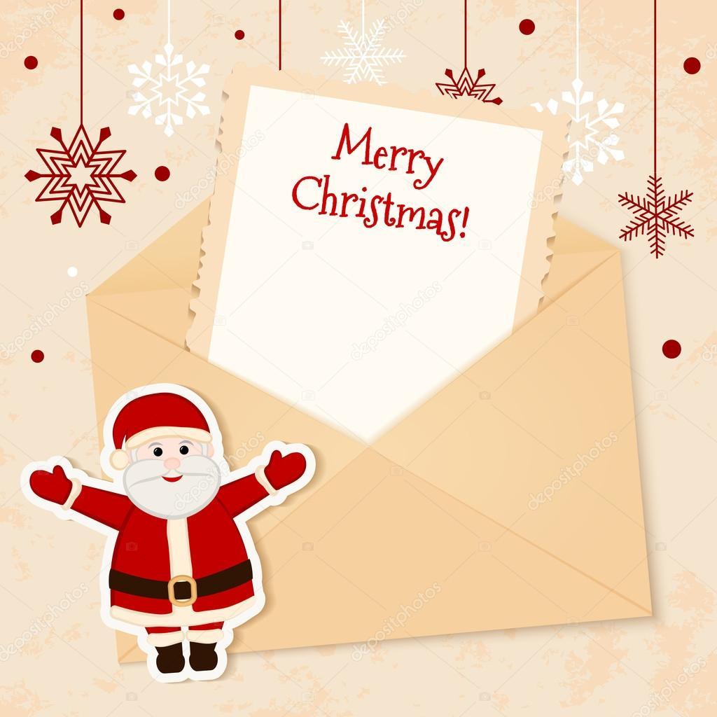 Santa Letter Backgrounds Background With Santa