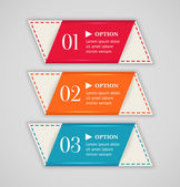 Horizontal colorful options banner or label template. Vector illustration — Stock Vector