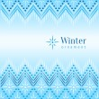 Beautiful vintage winter ethnic ornamental background — Stock Vector