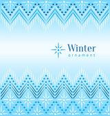 Piękna zima etnicznym ozdobnych — Wektor stockowy