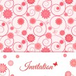 Floral card design for greeting card, invitation, menu, cover... — Stock Vector #36110709