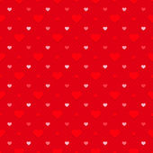 Retro seamless pattern. Hearts and dots on red dotted background — Stock Vector