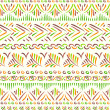 Stock Vector: Tribal ethnic seamless pattern