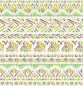 Tribal ethnic seamless pattern — Vettoriale Stock