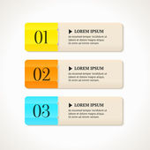 Modern option banners. Color numbered banners on light background. — Stock Vector