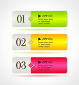Shine horizontal colorful options banners or buttons template. — Stock Vector