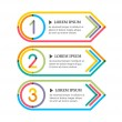 Modern option banners. Colorful lines and numbers on white backg — Stock Vector #48677365