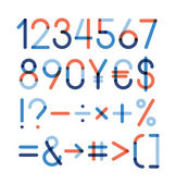 Vector set - Numbers and other symbols — Cтоковый вектор