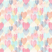 Abstract colorful seamless pattern with hearts — Stockvektor