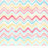 Colorful stripes seamless zigzag pattern. Abstract background wi — Stock Vector