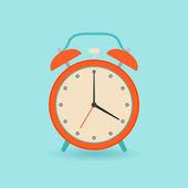 Retro alarm clock. Flat style. — Stock Vector