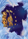 Frost ve saat — Stok Vektör