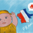 I love France like a boy - Stock Photo