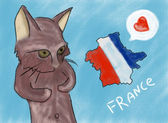 J'aime la france comme un chaton — Photo