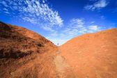 Mountain against blue sky — Stock Photo